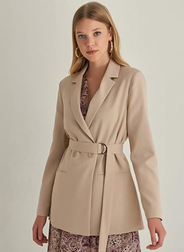 Ng Style Kuşaklı Blazer Ceket Taş